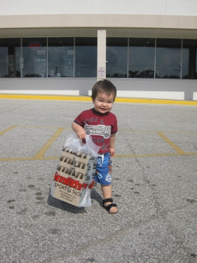 Kelton loves to carry things