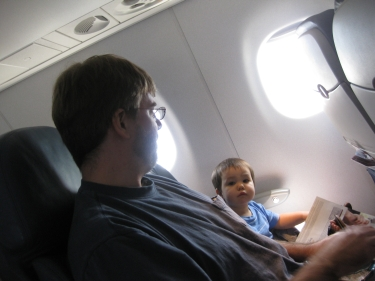 flying with dad